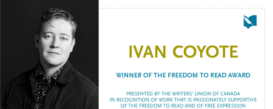 Ivan Coyote wins Freedom to Read Award from the Writers' Union of Canada
